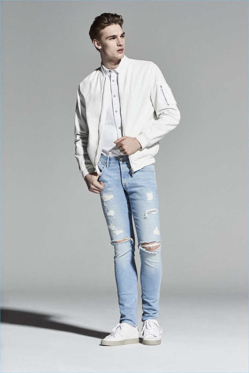 Mens Light Denim Jeans