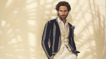 Tommy Dunn stars in TAGLIATORE's spring-summer 2017 advertising campaign.