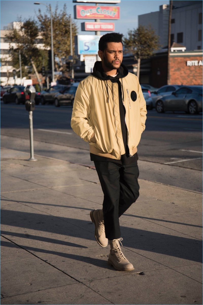 Singer The Weeknd takes to the streets of Los Angeles to shoot his H&M campaign.