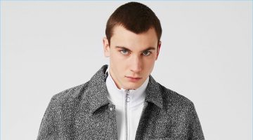 Topman updates the classic coach jacket with a modern grey textured approach.