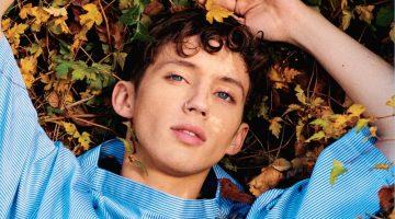 Troye Sivan covers Teen Vogue in a Comme des Garçons shirt.