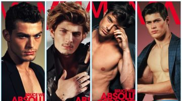 VMAN features models photographed by Bruce Weber for a series of four covers.