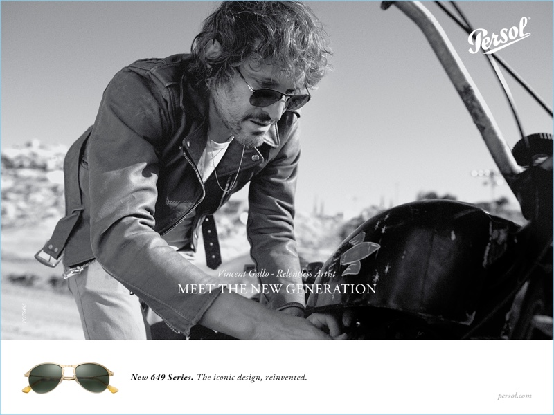 bbbb258ffcf Persol taps Vincent Gallo as the star of its spring-summer 2017 campaign.