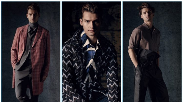 Vladimir Ivanov Models 14 Spring Looks for GQ Russia