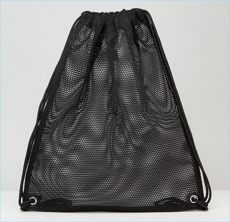 ASOS Drawstring Backpack In Mesh