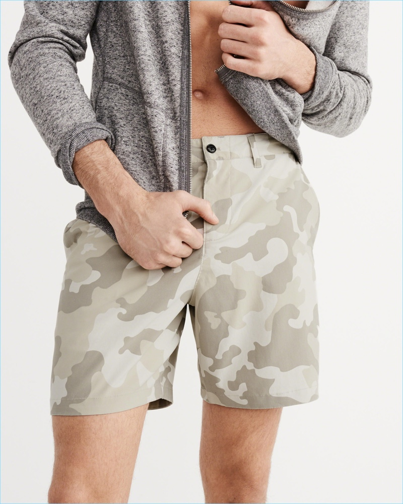 Abercrombie & Fitch Camouflage Hybrid Board Shorts