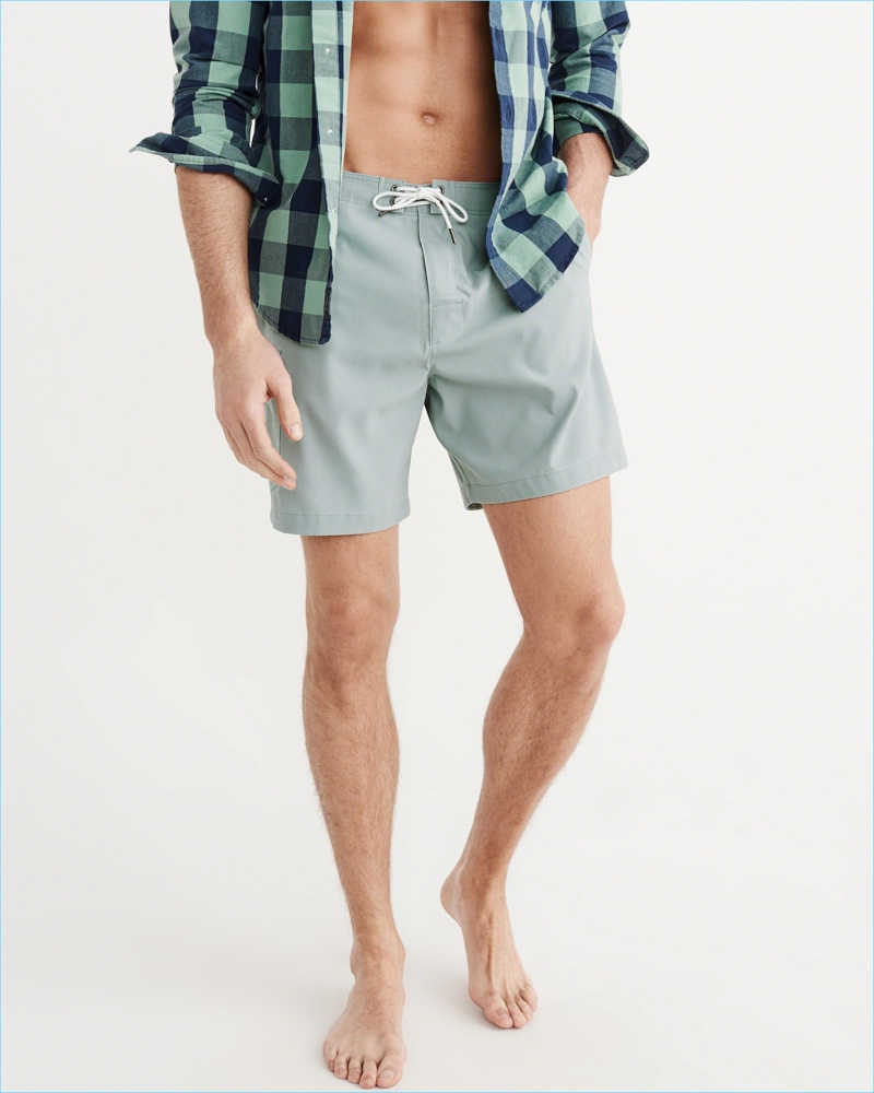Abercrombie & Fitch Green Cargo Board Shorts