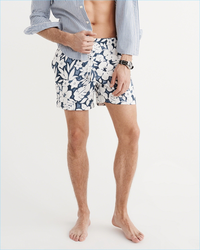 Abercrombie & Fitch Tropical Floral Print Board Shorts