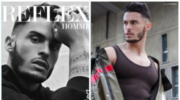Baptiste Giabiconi Covers Reflex Homme, Rocks Spring Fashions