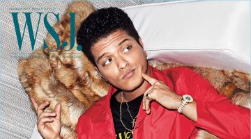 Bruno Mars covers the March 2017 issue of WSJ. magazine.