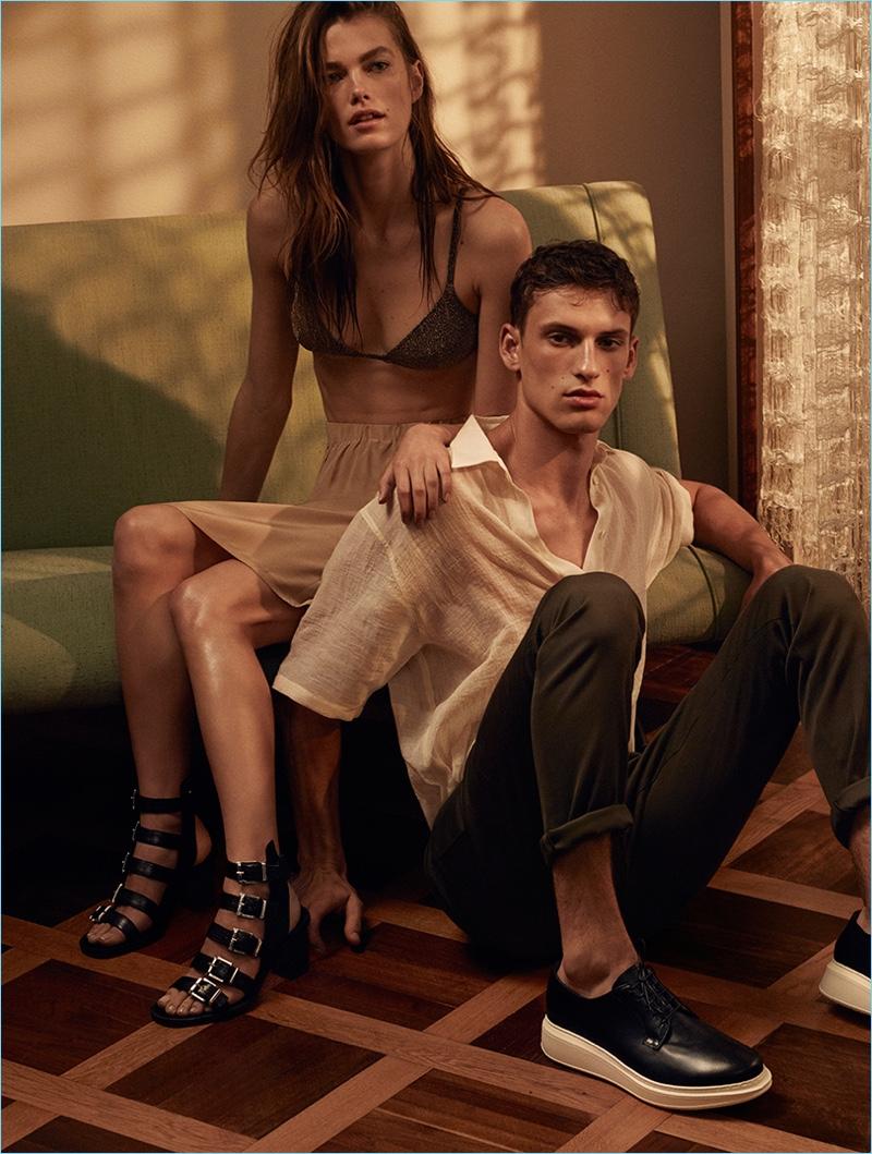 Mathilde Brandi and David Trulik star in Cesare Paciotti's spring-summer 2017 campaign.