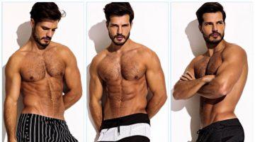 Diego Miguel sports Charlie by Matthew Zink's latest swimwear styles.