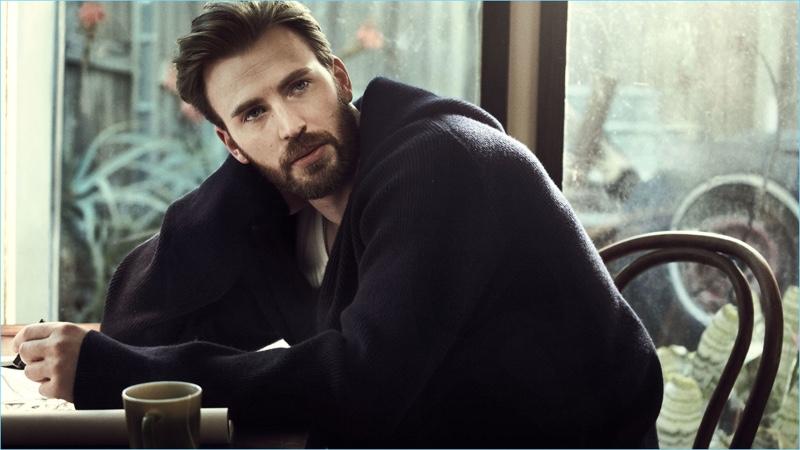 Mark Segal photographs Chris Evans for Esquire magazine.