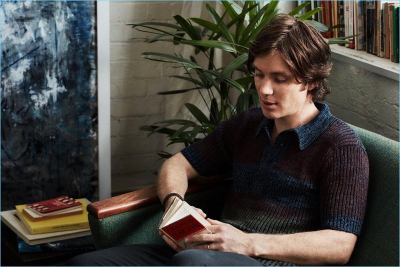 Cillian Murphy Reading Book Mr Porter 2017 Photo Shoot
