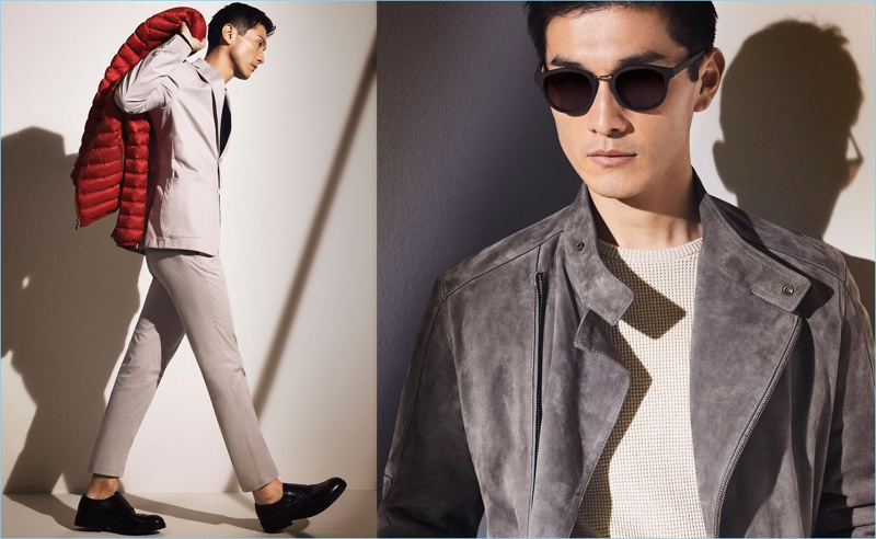 Massimo Dutti taps Daisuke Ueda for a lookbook featuring standout pieces, such as a suede jacket.