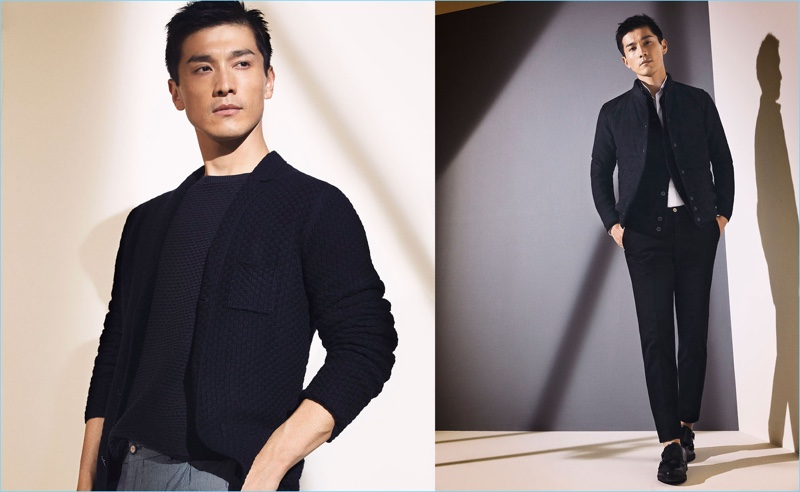 Embracing minimal style, Daisuke Ueda is a sleek vision in Massimo Dutti.