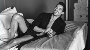 All smiles, David Gandy stars in the spring-summer 2017 campaign for his latest Autograph collection at Marks & Spencer.