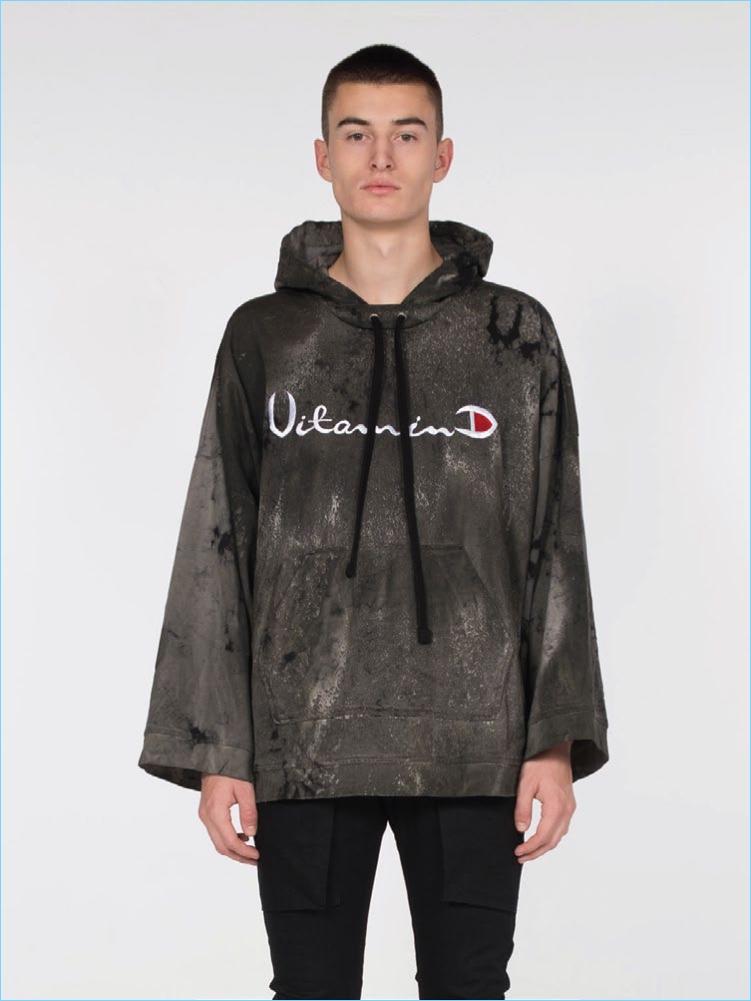 Drifter x Alchemist Vitamin D Oversized Hoodie in Camo Wash $285