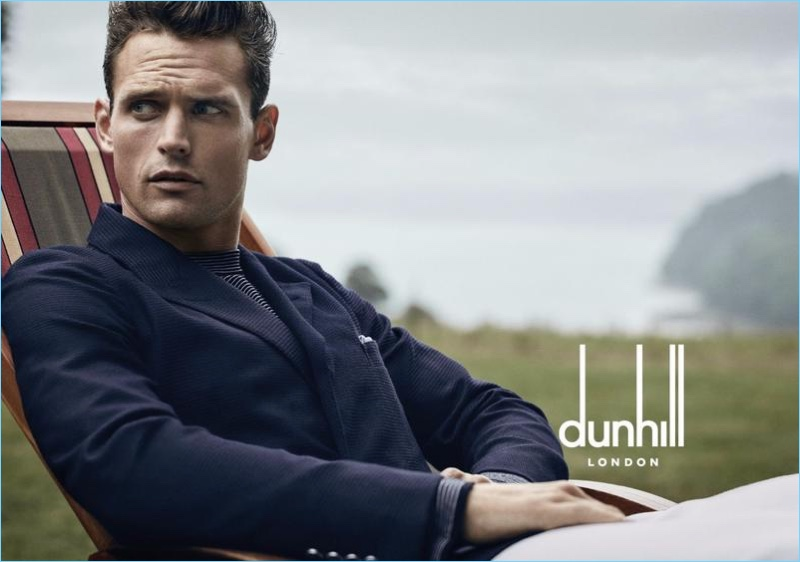 Guy Robinson stars in Dunhill's spring-summer 2017 campaign.