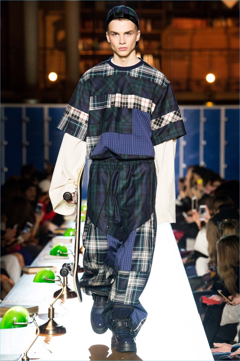 8c3f79cdbaa5 Tartan is patched together for oversized fashions from Fenty x Puma.