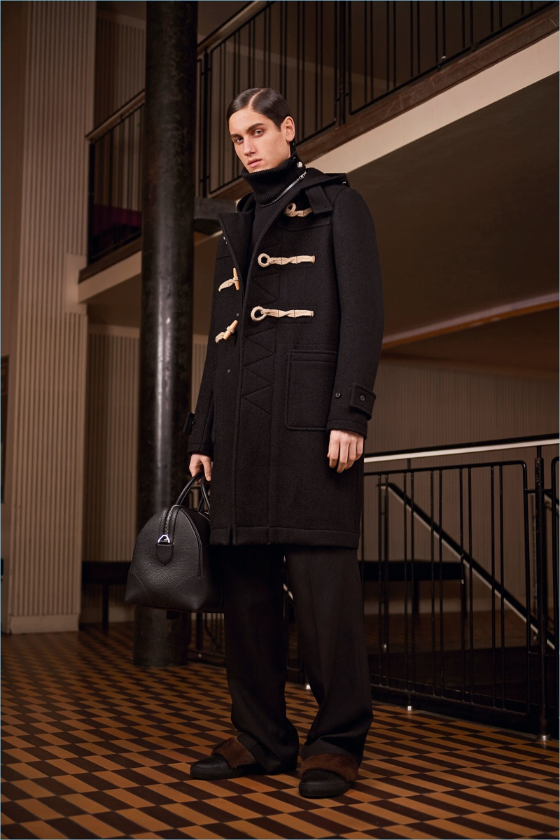 Iconic pieces such as the duffle coat are front and center for Givenchy's pre-fall 2017 collection.