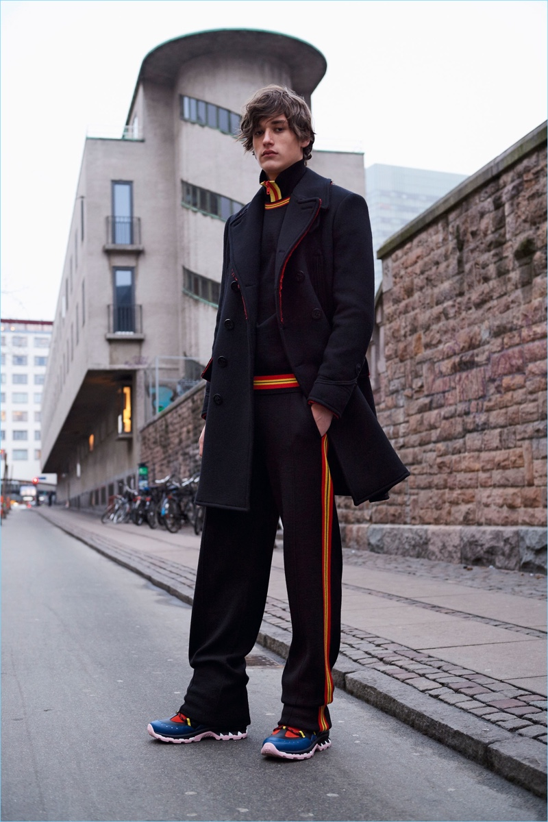 The trendy tracksuit makes an appearance in Givenchy's pre-fall 2017 collection.
