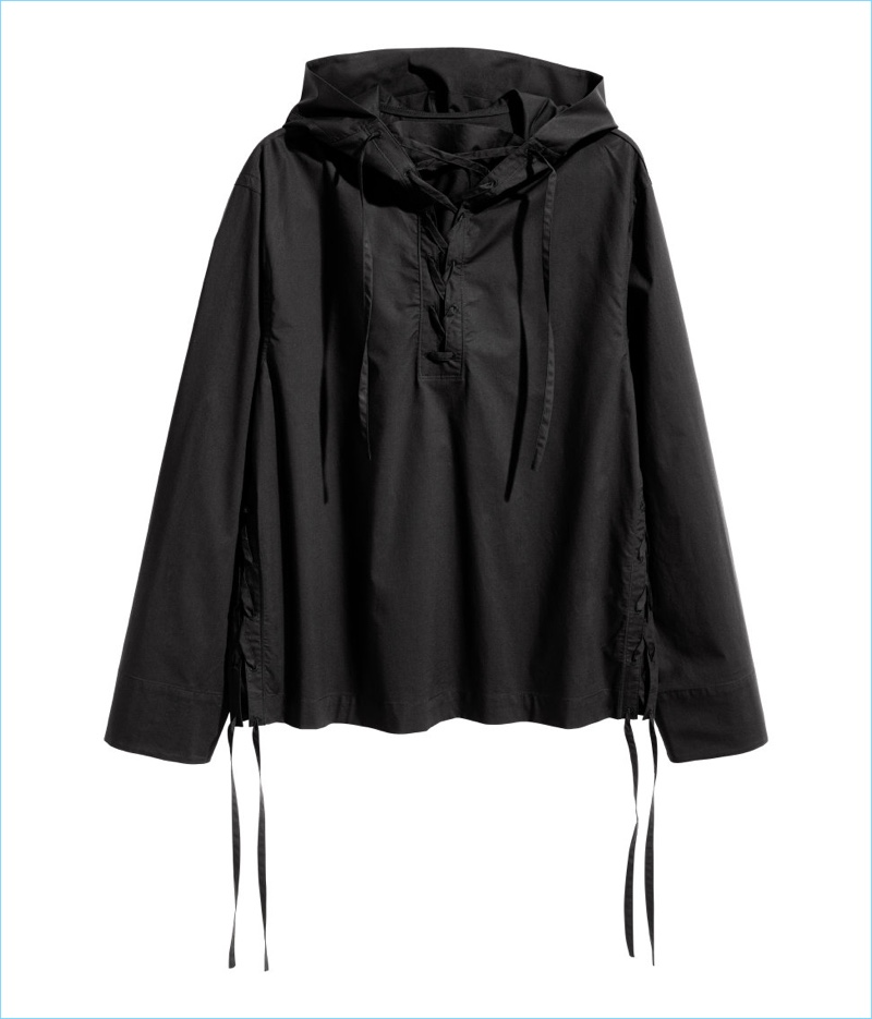 H&M Studio Men's Hooded Shirt with Lacing