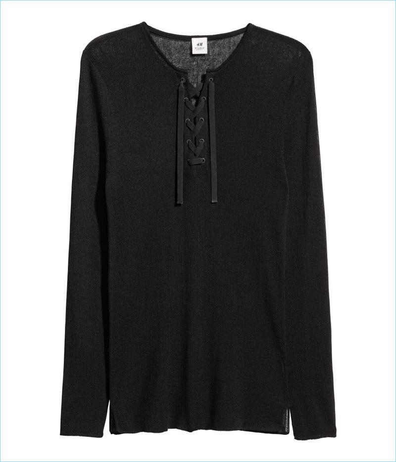 H&M Studio Men's Sweater with Lacing