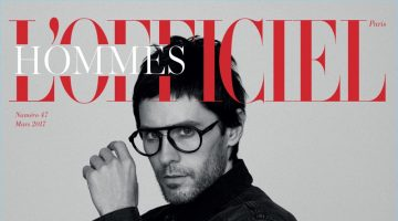 Actor Jared Leto sports a Gucci look with Carrera sunglasses for the cover of L'Officiel Hommes Paris.