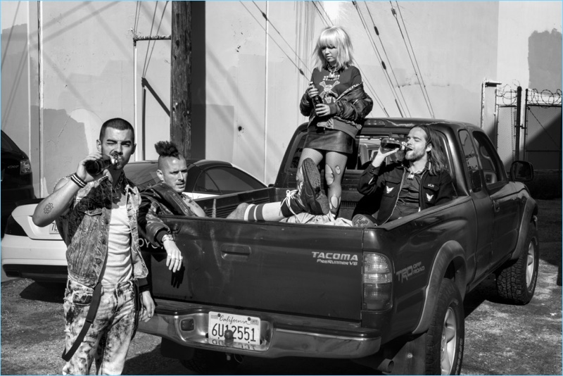DNCE graces the pages of Flaunt magazine with a new photo shoot.