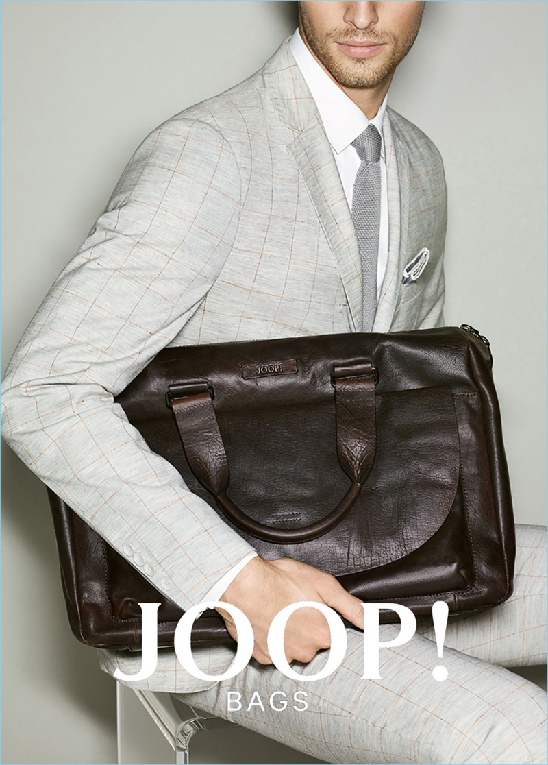 Edward Wilding stars in Joop!'s spring-summer 2017 bags campaign.
