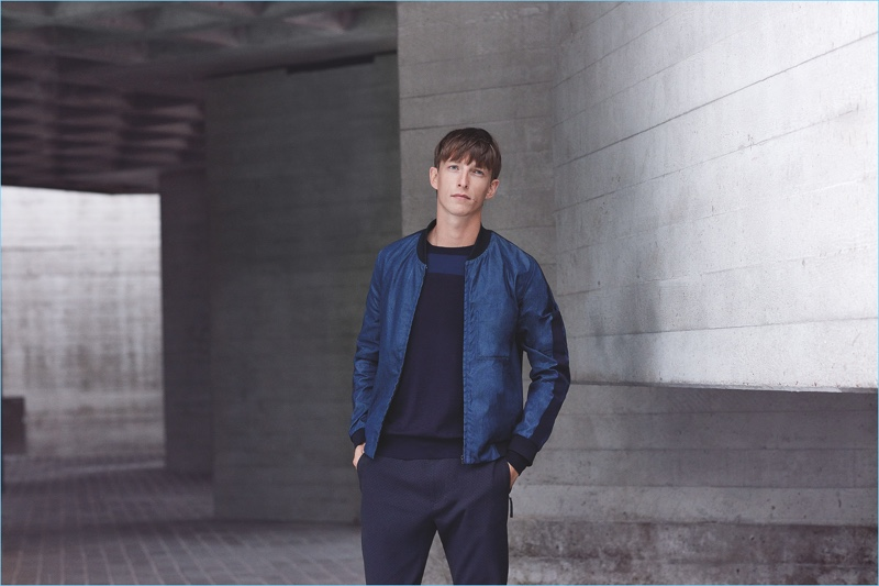The bomber jacket is one modern essential, which contributes to Lou Dalton's Jaeger collection.