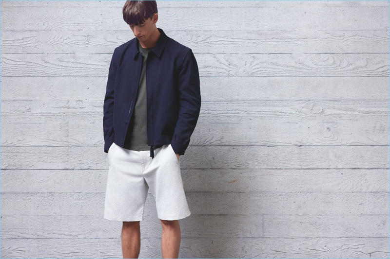 Casual style comes together with a sophisticated finesse, thanks to Lou Dalton's blouson jacket.