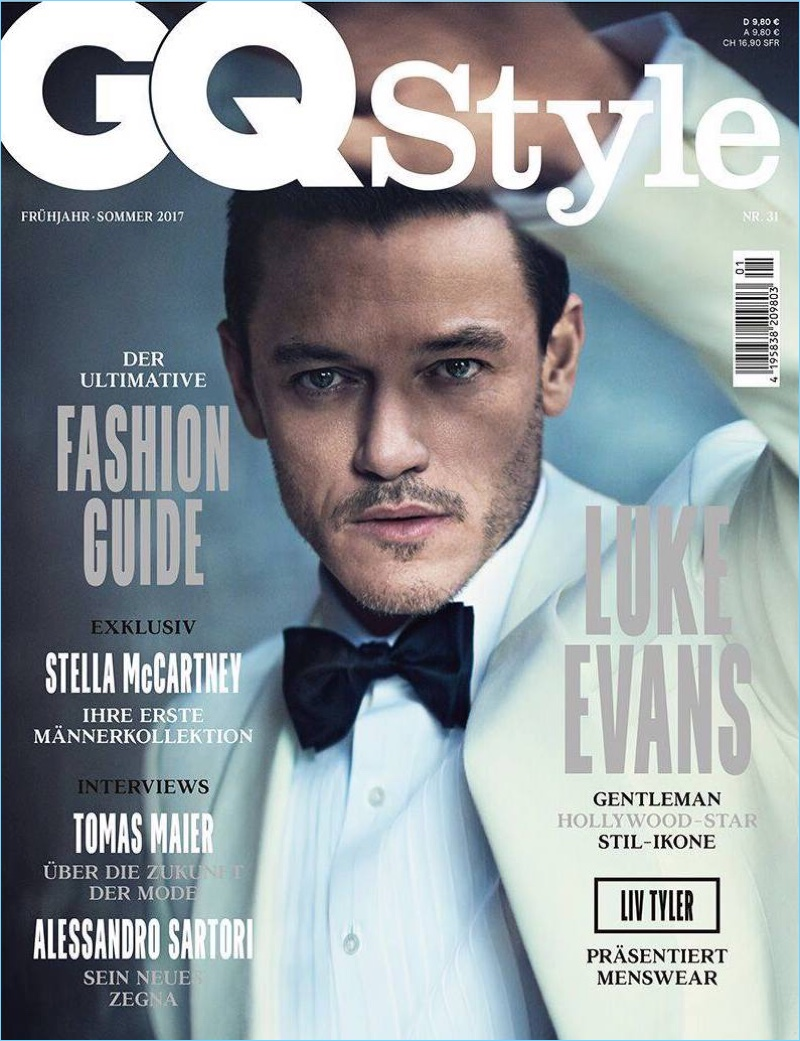 Gq Magazine The Secrets Of R Kelly: Luke Evans Goes Sartorial For GQ Style Germany Cover