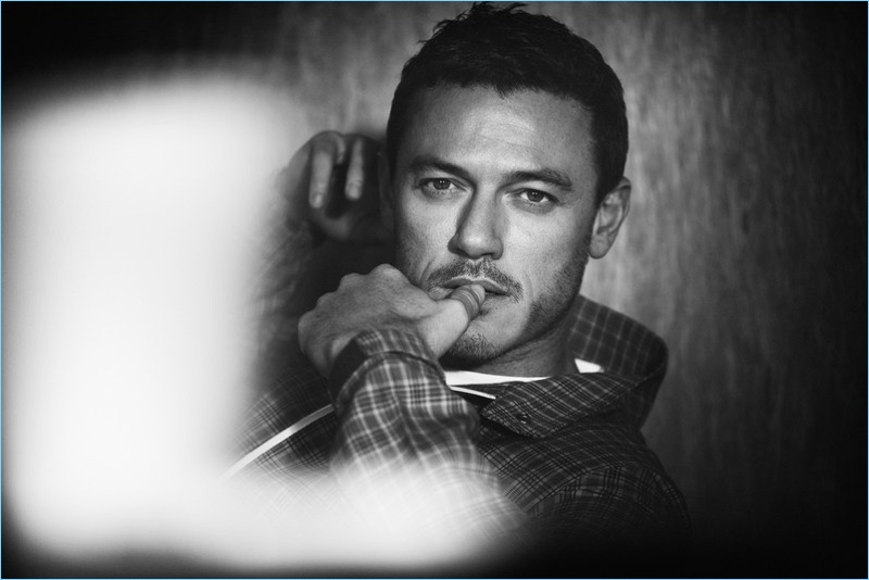 Beauty and the Beast star Luke Evans wears a Prada look for the pages of GQ Style Germany.