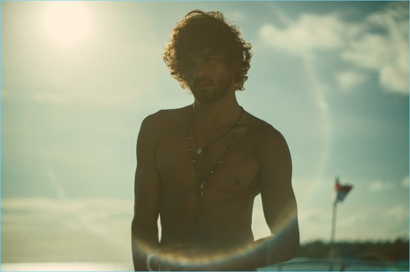 Brazilian model Marlon Teixeira appears in a shoot by photographer, Pablo Aguiar.