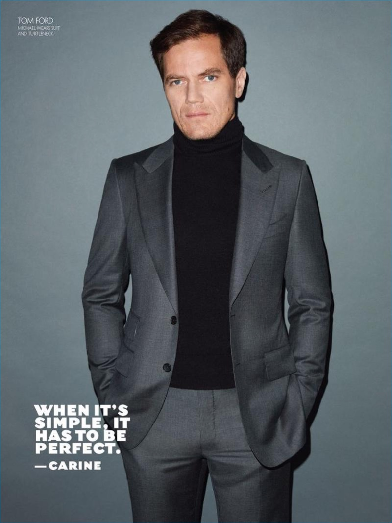 Michael Shannon suits up in Tom Ford for CR Fashion Book.
