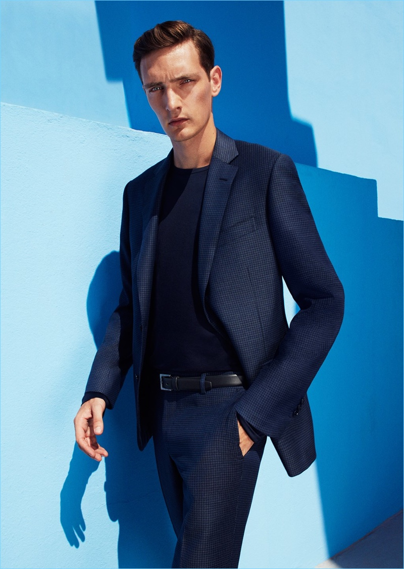 Yannick Abrath dons a dashing blue suit by Pal Zileri.