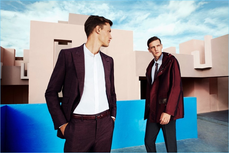 Dylan Don photographs Eddie Klint and Yannick Abrath in spring fashions by Pal Zileri.
