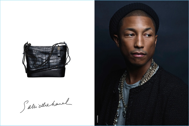Karl Lagerfeld photographs Pharrell Williams for Chanel's Gabrielle campaign.