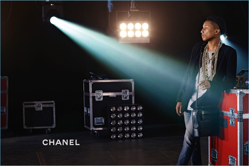Pharrell Williams stars in Chanel's new campaign for its Gabrielle bag.