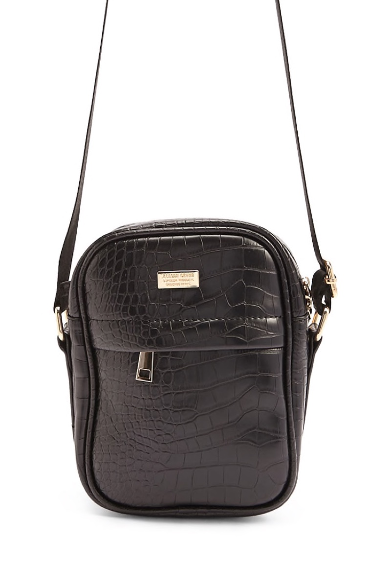 Reason Faux Croc Crossbody Bag $42