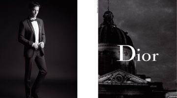 Robert Pattinson dons a tuxedo for Dior Homme's spring-summer 2017 campaign.