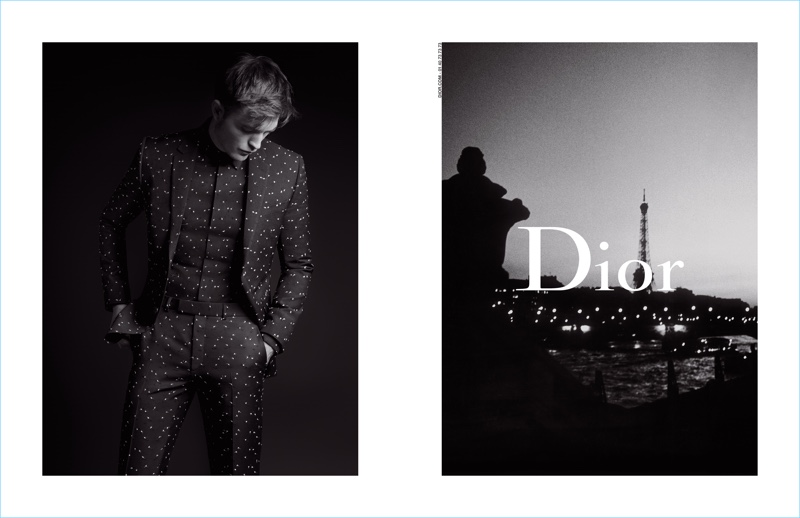 Karl Lagerfeld photographs Robert Pattinson for Dior Homme's fall-winter 2017 campaign.