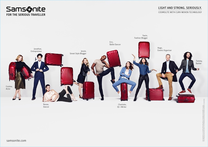 Rankin photographs Samsonite's new spring campaign.
