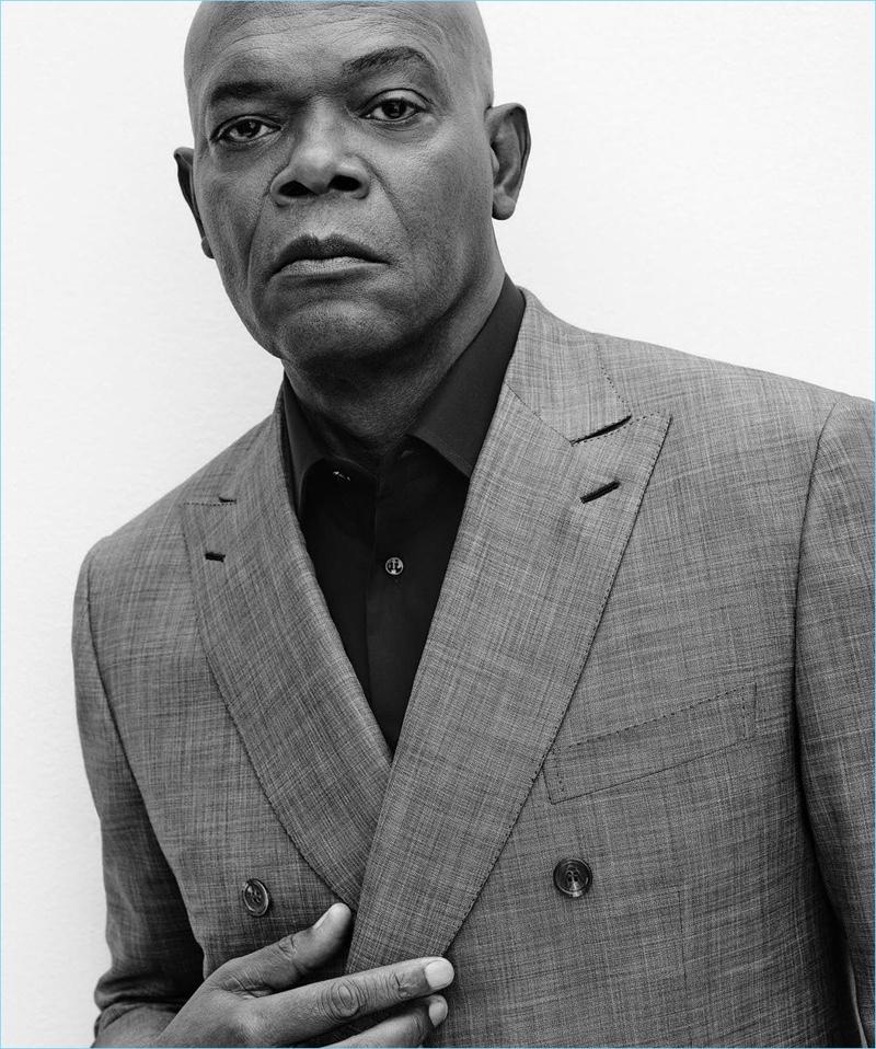 Gregory Harris photographs Samuel L. Jackson for Brioni's spring-summer 2017 campaign.