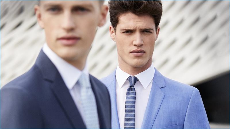 Models Victor Nylander and Benjamin Reynier star in Strellson's spring-summer 2017 campaign.