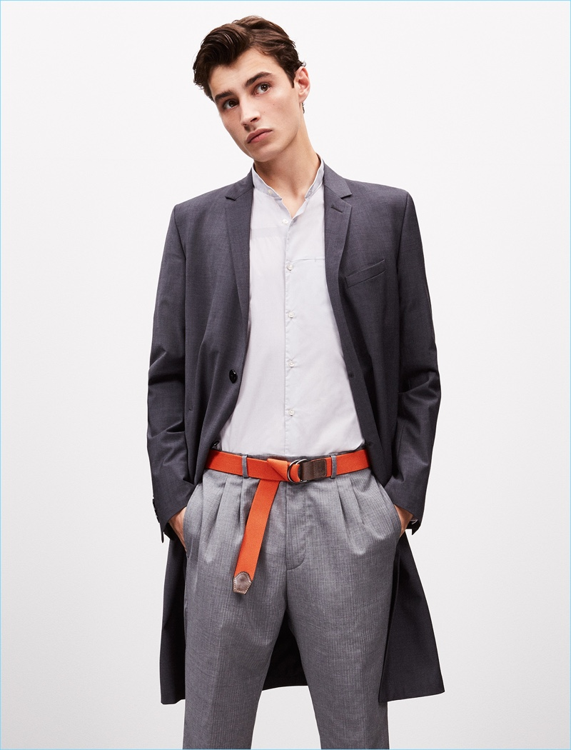 Making a belted statement, Adrien Sahores connects with Strellson.
