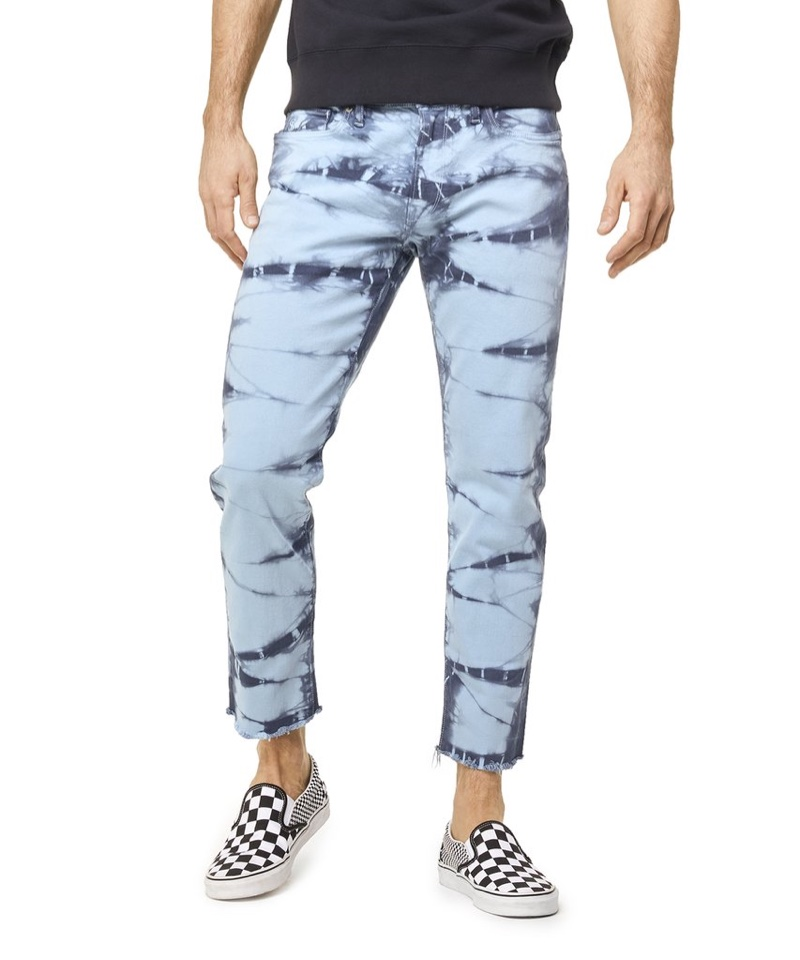Todd Snyder Cut Off Tie Dye Denim in Blue $228