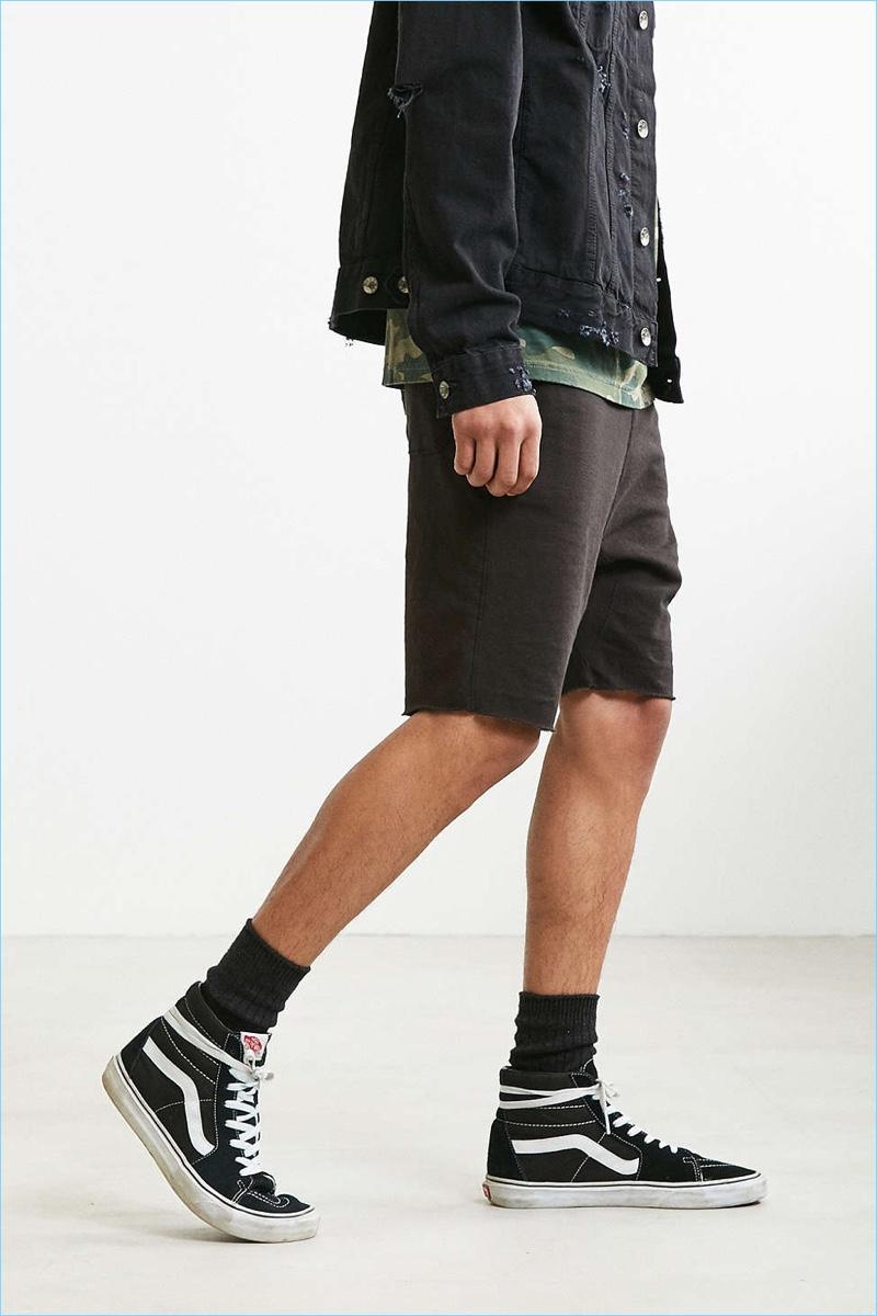 UO Raw Hem Knit Shorts